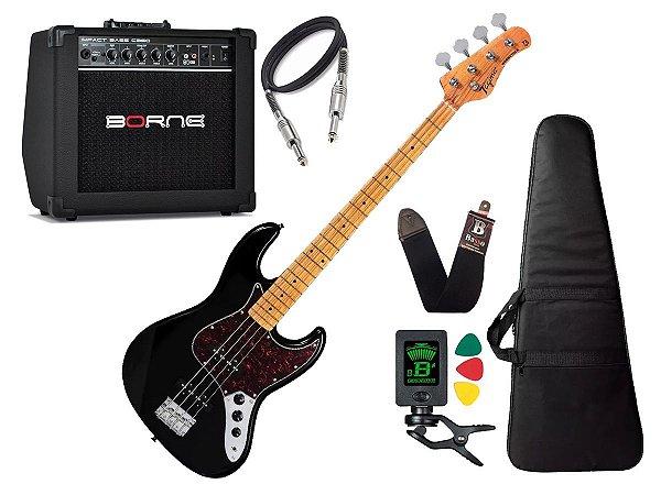 Baixo Tagima Tw73 Preto BK Woodstock Amplificador Borne CB60