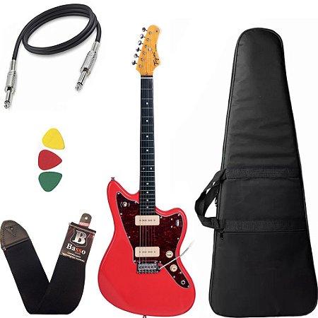 Guitarra  Tagima Tw61 Woodstock Vermelho Bag Correia