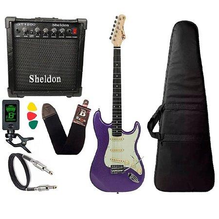 Kit Guitarra Tagima Tg500 Roxo Metalico Purple cubo Sheldon