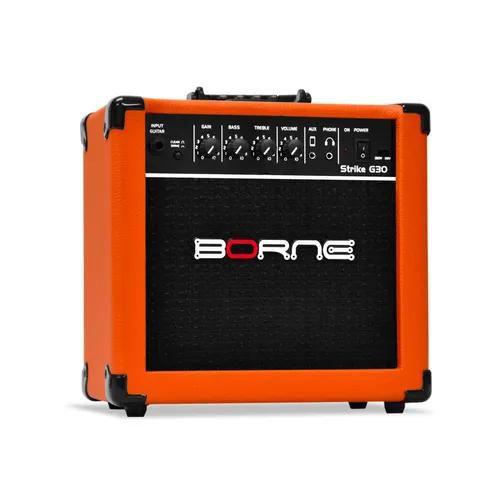 Amplificador Cubo Strike G70 Borne Cor Laranja Orange