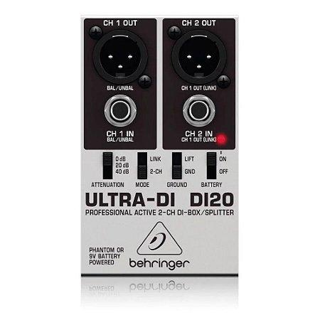Direct Box Ativo Behringer 2 Canais Ultra-di Di20