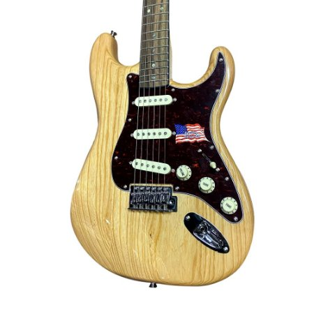 Guitarra Sx Vintage Swamp Natural Ash Americano Stratocaster
