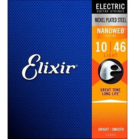 Encordoamento Elixir Guitarra 010 Nanoweb Light
