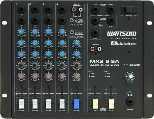 Mesa De Som stereo 6 Canais Wattsom Ciclotron Mxs 6 Sa