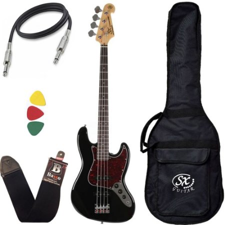 Contra Baixo Sx Bd1 Preto Jazz Bass 4 Cordas Passivo Custom