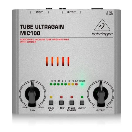 Pré Amplificador Microfone Behringer Tube Ultragain Mic100