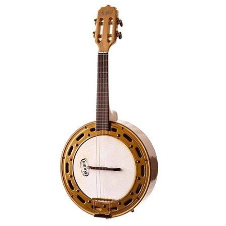 Banjo Rozini Rj13 Elétrico Maple Aro Banhado Ouro Dourado