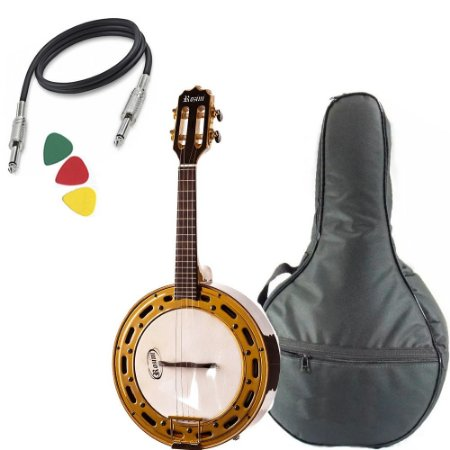 Banjo Rozini Rj12 Eletrico Jacaranda Profissional  Capa Bag