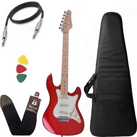 Guitarra Strinberg Sts100 Mwr Vermelha Stratocaster Capa Bag