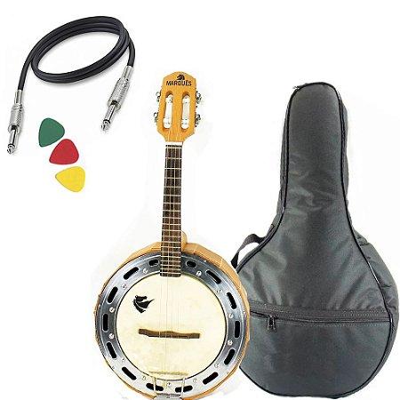 Banjo Profissional Eletrico Marquês Baj98 Madeira Solida