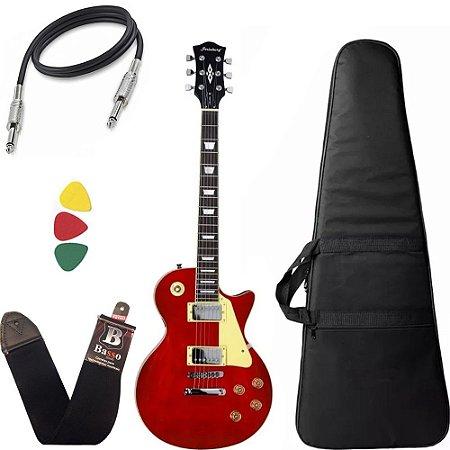 Guitarra Les Paul Strinberg Lps230 Vermelha Wr Com Capa Bag