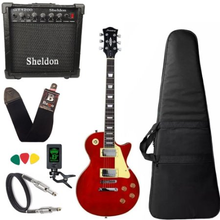 Guitarra Les Paul Strinberg Lps230 Vermelha C/ Amplificador