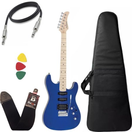 Guitarra Strinberg Sgs180 Azul Tbl Strato Humbucker Capa Bag