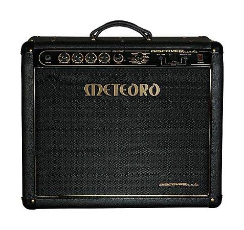 Amplificador  Meteoro Discover Sounds 100 W 60 Efeitos c/ foot afinador metronomo wah wah delay chorus etc