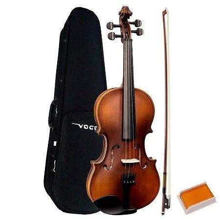 Violino 3/4 Vogga Madeira Envelhecida Arco E Case Completo