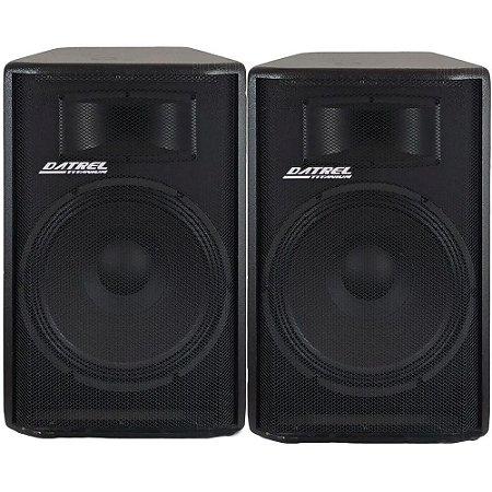 Kit Caixa Ativa Passiva Datrel Falante 15 Bluetooth Usb 600w