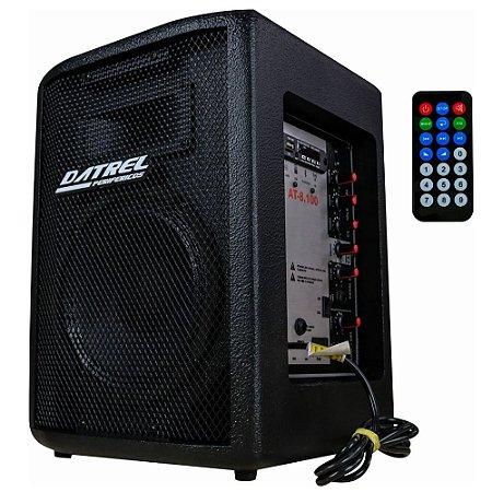 Caixa De Som Ativa Datrel falante 8 100w Bluetooth Usb Fm