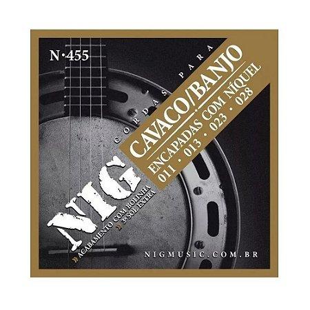 Jogo De Cordas Cavaco E Banjo Nig N455 011 028 (sol) Extra