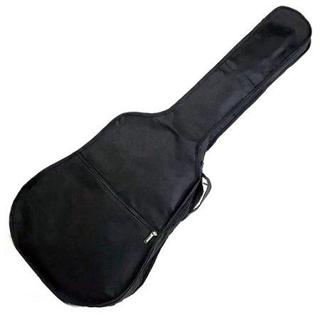 Capa Bag Simples Violão Folk Com Alça Mochila E Maos