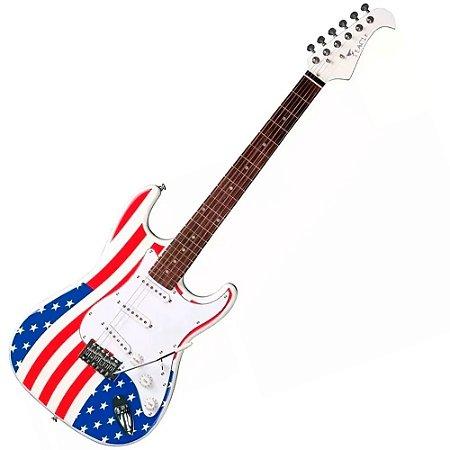 Guitarra Eagle Sts001 Usa Bandeira Americana Original