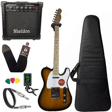 Guitarra Telecaster Squier Affinity Sunburst Amplificador