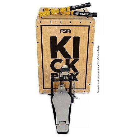 Cajon Fsa Kick Box  Natural Eletroacustico Fkb01