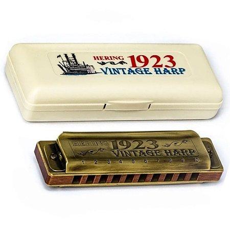 Gaita Hering Vintage Harp Dó C Diatônica 1923 1020c