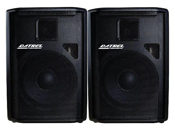 Kit Caixa Ativa + Passiva Datrel 12 500w Usb Bluetooth Radio