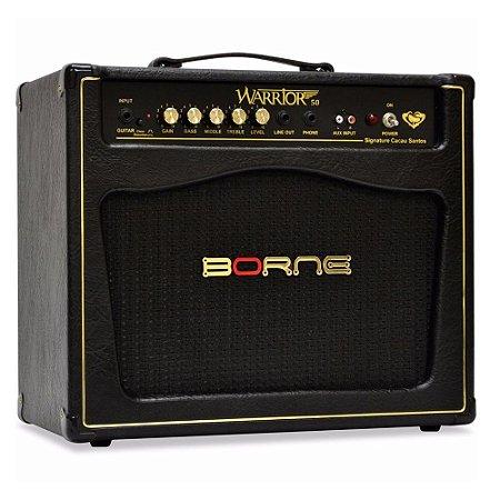 Amplificador Cubo Borne Warrior 50 Cacau Santos Signature bk
