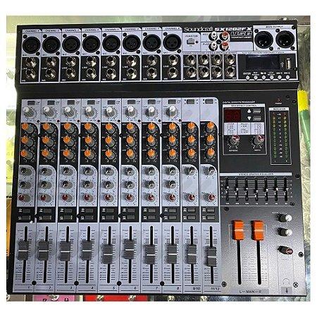 Mesa De Som Soundcraft Sx1202fx Usb C/ Efeitos Phantom Power