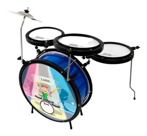 Bateria Infantil Luen Smart Drum  Percussion Azul