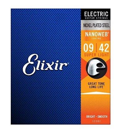 Encordoamento Elixir Guitarra 009 Super Light Nanoweb 12002