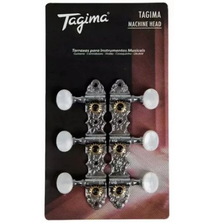 Tarraxa Tagima Blindada Para Violão Nylon Tmh831Cr Cromada