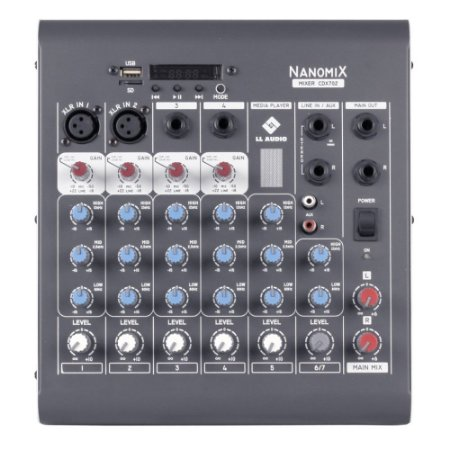 Mesa Ll Audio 6 Canais Nanomix Cdx702r Com Bluetooth