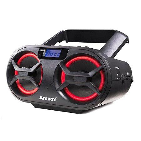 Rádio Portátil Amvox Cd Mp3 Player Usb Bluetooth  AMC595 Preto