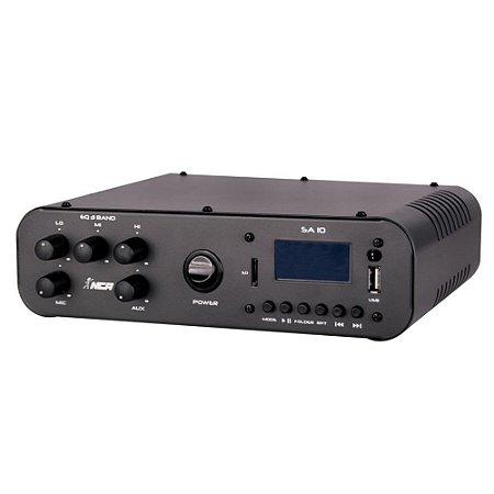 Receiver Potência Amplificador Compacto Sa10 Ll Audio Usb