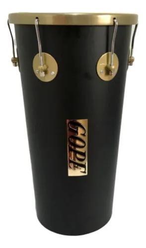 Rebolo / Tantanzinho Gope Cônico 11Pol x 55cm Preto e Dourado