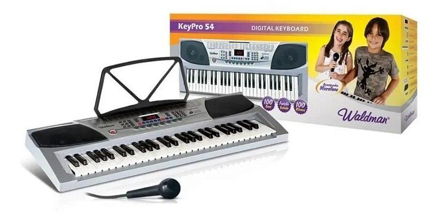 Teclado Musical Com Microfone 54 Teclas Waldman keypro54
