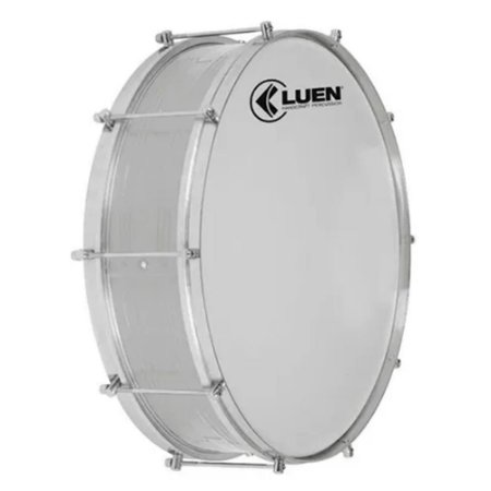 Zabumba Luen 15x18 Percussion Alumínio Com 8 Afinações