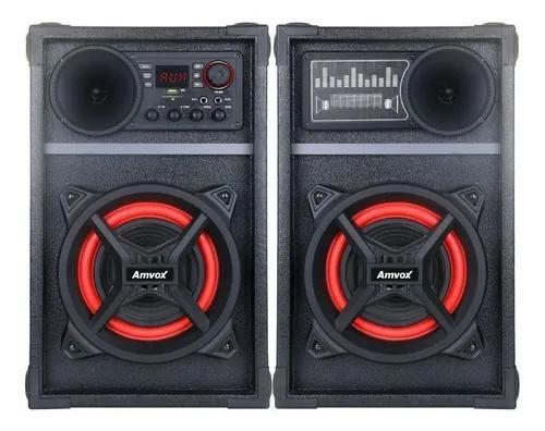 Caixa Som Amplificada Amvox Aca 601 New X 600w Bluetooth Usb Radio Fm