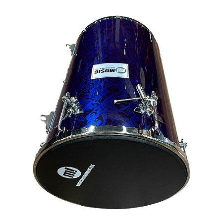 "Rebolo Music Phx Madeira 50cmX12"" Azul Rajado 502r"