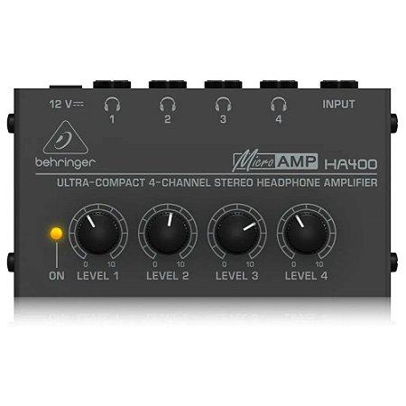 Amplificador Para Fones de Ouvido Behringer Powerplay Ha400