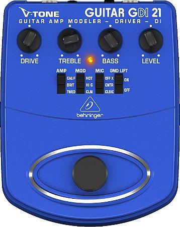 Pedal Behringer Gdi21 V-Tone Guitarra Simulador Amplificador