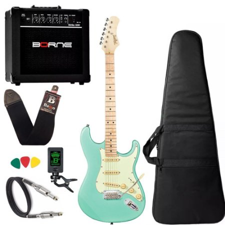 Kit Guitarra Tagima T635 Surf Green Clara Mg Cubo Borne