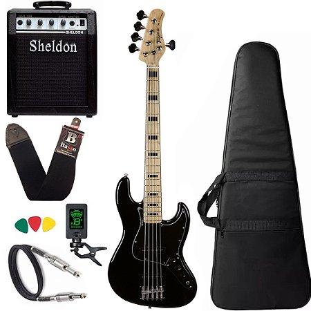 Kit Baixo Tagima TJB5 Preto bk Jazz Bass + amplificador