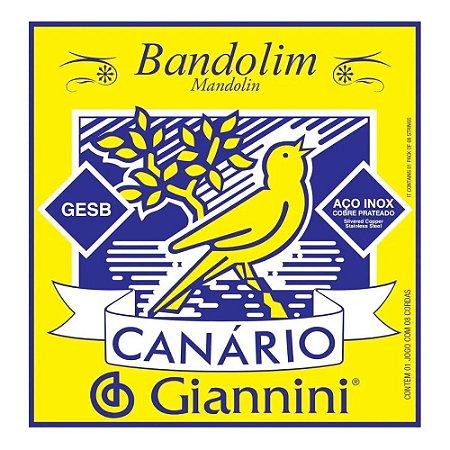 Encordoamento Giannini Canário Bandolim Chenilha Média GESB