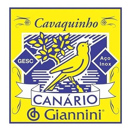 Encordoamento Giannini Canário Cavaquinho Tensão Média GESC
