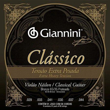 Encordoamento Giannini Violão Nylon Extra Pesada GENWXPA
