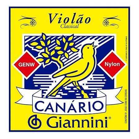 Encordoamento Giannini Canário Violão Nylon Média GENW