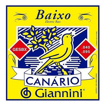 Encordoamento Giannini Canário Contra Baixo 4 Cordas GESBX